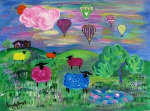 Ewe Know | Painting by Sandy Jones
