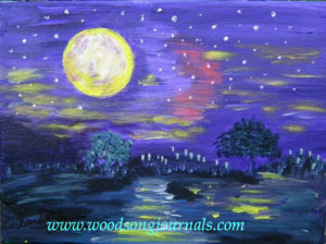 Full Moon | Painting by Sandy Jones