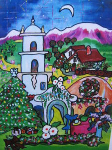 Ojai Winter Night | Painting by Sandy Jones