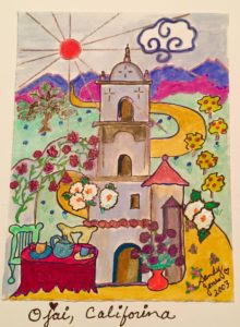 Ojai Sketch | Painting by Sandy Jones