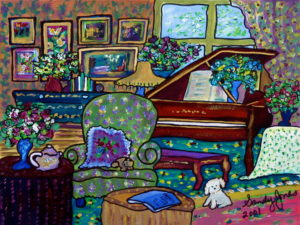 Piano | Painting by Sandy Jones